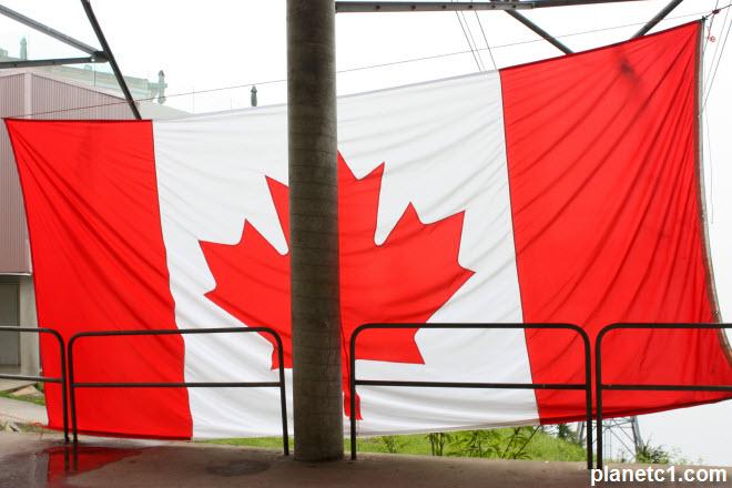 Canadian Flag Grouse Mountain