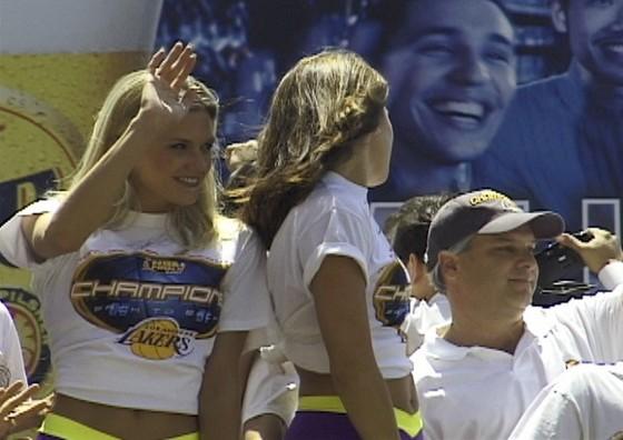 Los Angeles Lakers Cheerleaders at Laker Parade
