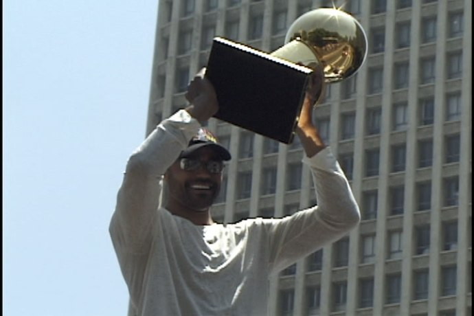Rick Fox Lakers Trophy