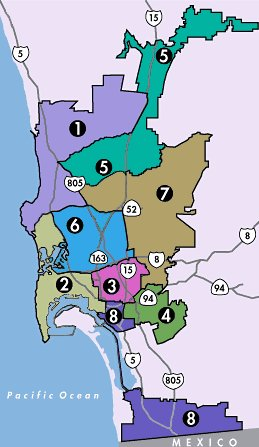 San Diego Government City Council Districts