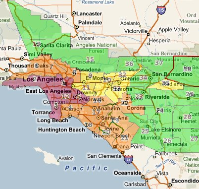 South Coast Air Quality Management District - Air-Quality Maps