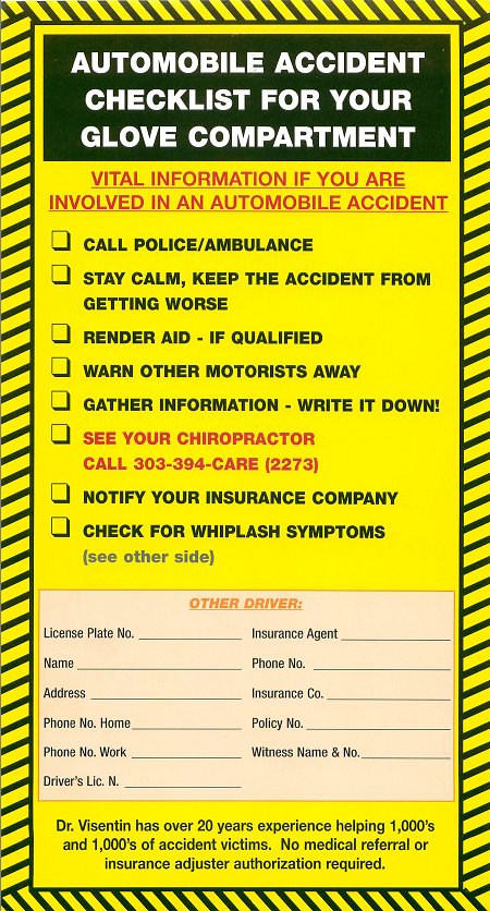 automobile accident checklist