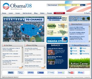 Barack Obama website 2008