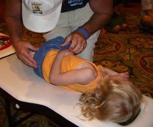 child chiropractic side posture adjustment