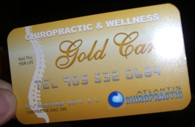 chiropractic gold card Atlantis chiropractic