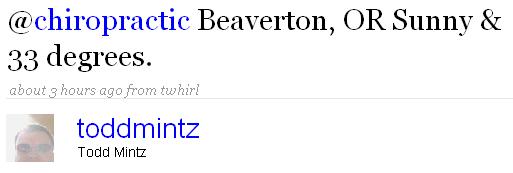 chiropractic beaverton