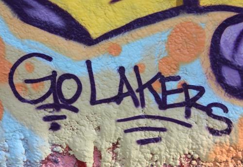 Go Lakers Purple Graffiti