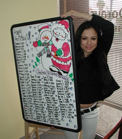 December Birthday Board