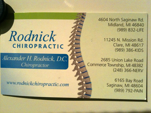 4 business cards from georgia planet chiropractic rodnick chiropractic colourmoves