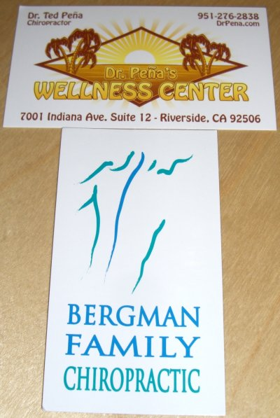 Saturday Business Card Karma August 2008 Planet Chiropractic