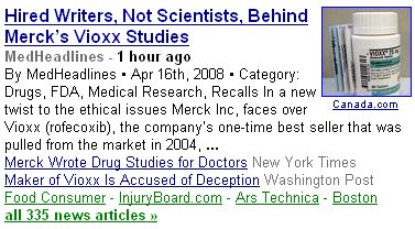hired writers, not scientists, behind Vioxx studies