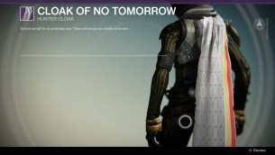Cloak of no tomorrow