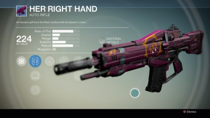 Queen's Emissary weapon