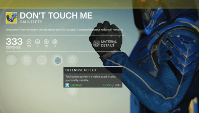 don't touch me exotic gauntlets