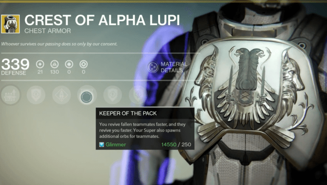 crest of alpha lupi titan
