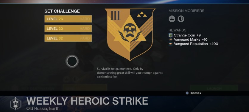 weekly heroic strike level 32