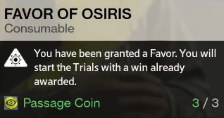 favor of osiris