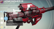 admonisher rocket launcher