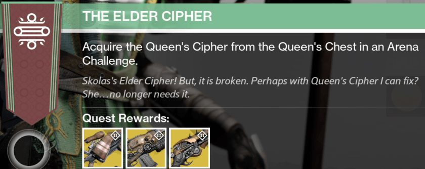 elder cipher exotic bounty guide