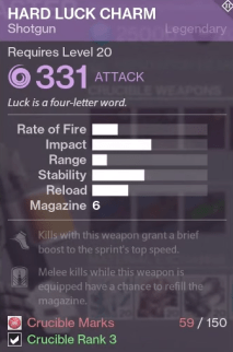hard luck charm crucible