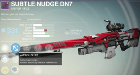 subtle nudge sniper rifle