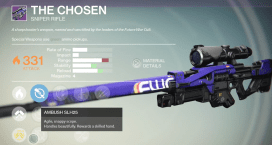 the chosen sniper rifle
