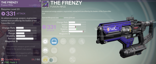 the frenzy best fusion rifle