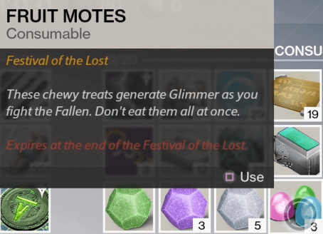 fruit motes consumable
