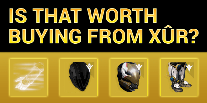 xur worth buying peregrine greaves