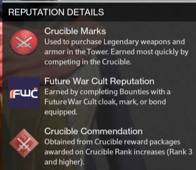 crucible cmmendation reward