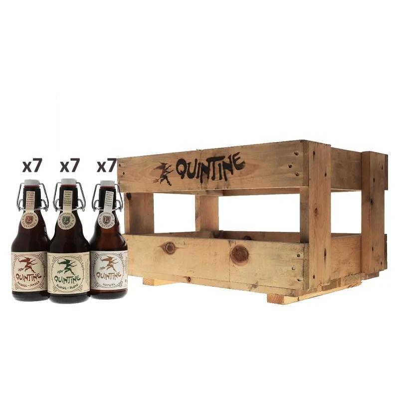 caisse decouverte en bois quintine 21 bouteilles