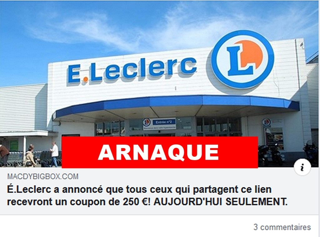 Coupon E.Leclerc Facebook