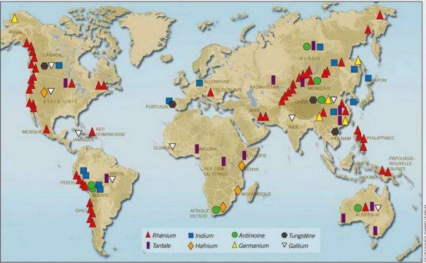 """Résultat de recherche d'images pour """"terres rares métaux précieux"""""""