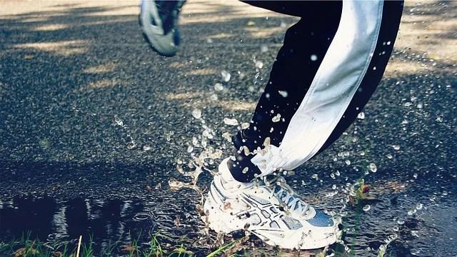 pluie course à pied