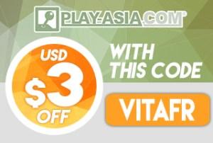 3$ de réduction avec le code VITAFR sur le site Play-Asia