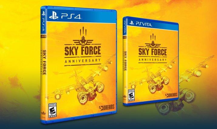 Sky Force Anniversary Limited Run PS VITA PS4