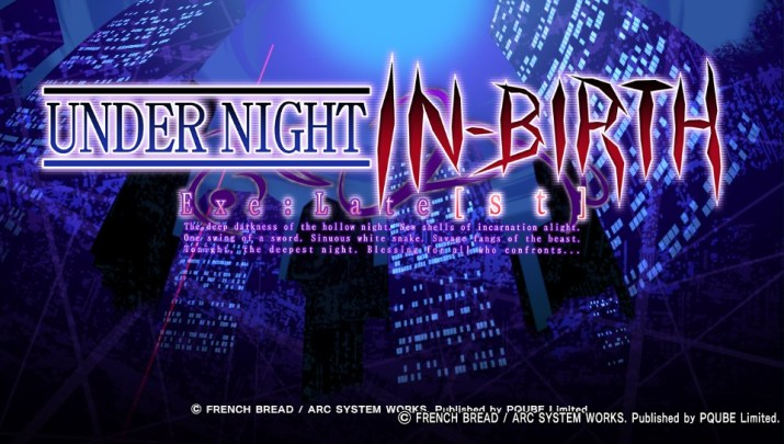 Under Night In-Birth EXE:Late[st] Test PS Vita