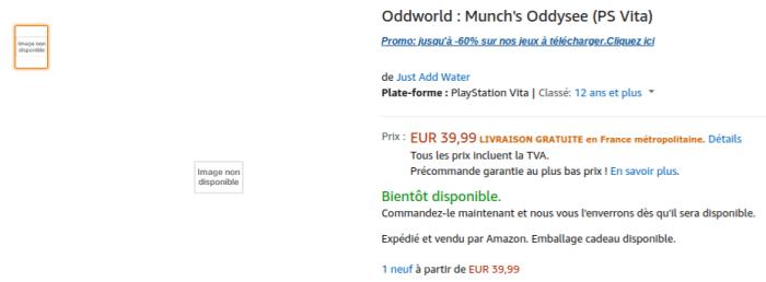 Oddworld: Munch's Oddysee PS Vita sur Amazon Fr
