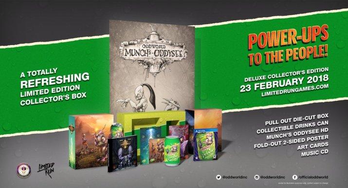 Oddworld Munch's Oddysee HD édition collector Limited Run PS Vita