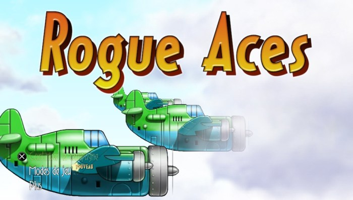 Rogue aces test PS Vita