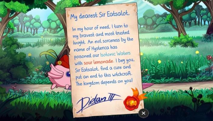 Sir Eatsalot review test PS Vita