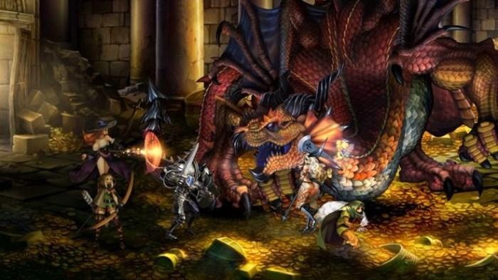 Voilà une équipe d'aventuriers rendant visite à un Dragon dans son antre !