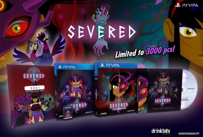 SEVERED Play-Asia édition limitée PS Vita