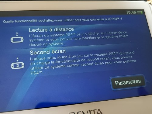 L'application Lien PS4 sur PS Vita
