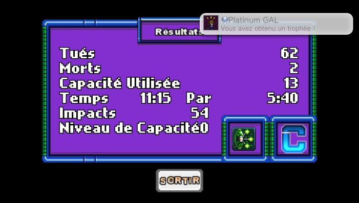 Metagal PS Vita/PS4 trophée Platine