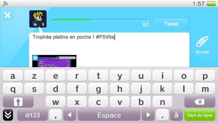 Comment partager une capture d'écran PS Vita sur Twitter ?
