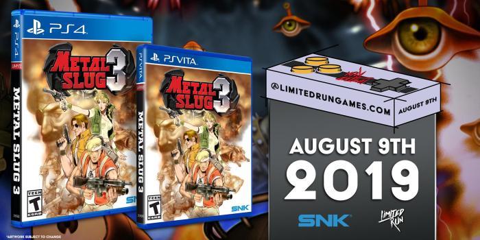 Metal Slug 3 Limited Run PS Vita & PS4