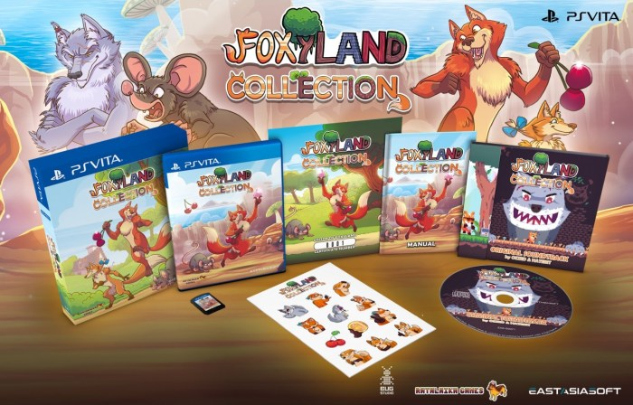 FoxyLand Collection sur PS Vita