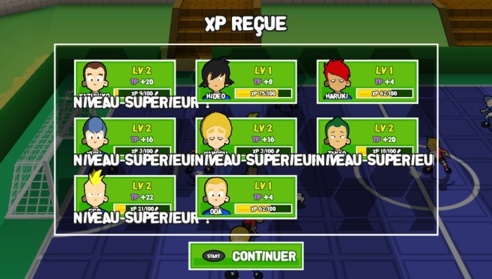 XP reçue