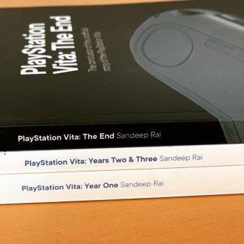 Les trois livres de Sandeep Rai sur la PS Vita